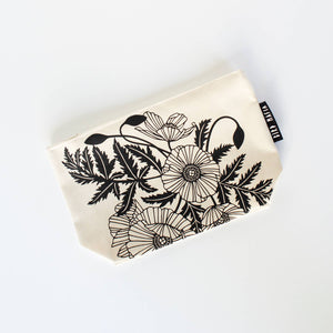Bird Mafia - Poppies Cosmetic Pouch