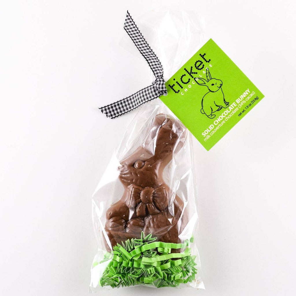 Ticket Chocolate - Solid Easter Bunny