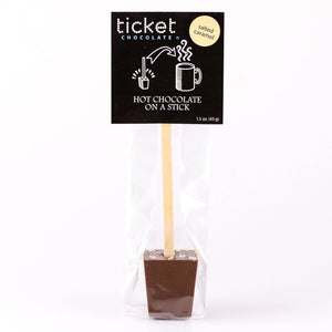 Ticket Chocolate - Salted Carmel - Hot Chocolate on a Stick - Single