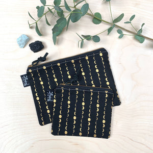 Frankie & Coco PDX - Pacific Zipper Pouch In Dark Moons
