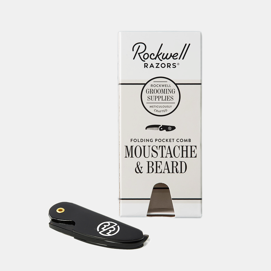 Rockwell Originals – Folding Mustache and Beard Comb