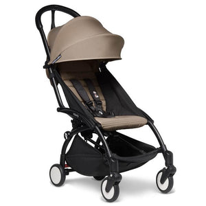 BabyZen Yoyo2 Compact Prams BabyZen Black Taupe No Cup Holder