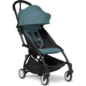 Babyzen YOYO² - with 0+ newborn pack and 6+ month colour pack Compact Prams Babyzen Black Frame Aqua