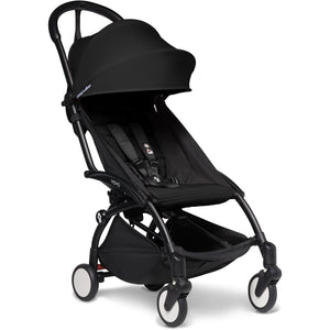 Babyzen YOYO² - with 0+ newborn pack and 6+ month colour pack Compact Prams Babyzen Black Frame Black