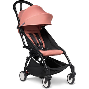 Babyzen YOYO² - with 0+ newborn pack and 6+ month colour pack Compact Prams Babyzen Black Frame Ginger