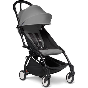 Babyzen YOYO² - with 0+ newborn pack and 6+ month colour pack Compact Prams Babyzen Black Frame Grey