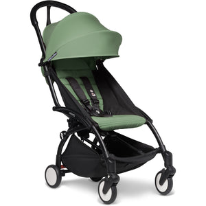 Babyzen YOYO² - with 0+ newborn pack and 6+ month colour pack Compact Prams Babyzen Black Frame Peppermint