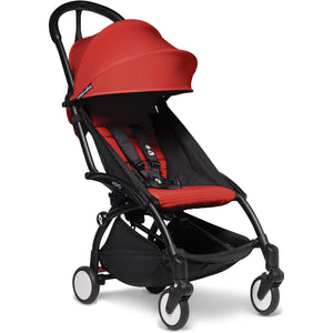 Babyzen YOYO² - with 0+ newborn pack and 6+ month colour pack Compact Prams Babyzen Black Frame Red