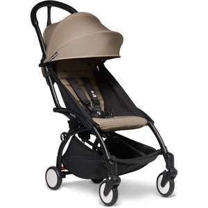 Babyzen YOYO² - with 0+ newborn pack and 6+ month colour pack Compact Prams Babyzen Black Frame Taupe