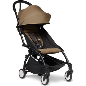 Babyzen YOYO² - with 0+ newborn pack and 6+ month colour pack Compact Prams Babyzen Black Frame Toffee