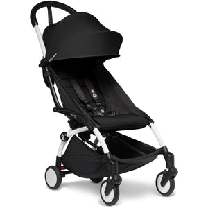 Babyzen YOYO² - with 0+ newborn pack and 6+ month colour pack Compact Prams Babyzen White Frame Black