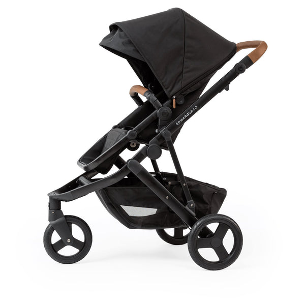 Edwards & Co Oscar MX + Carrycot Bundle Full Size Prams Edwards & Co Black Luxe