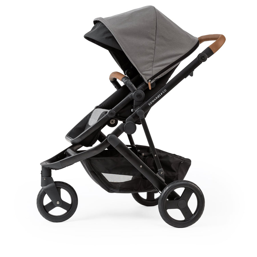 Edwards & Co Oscar Mx Prams Edwards & Co Black Luxe