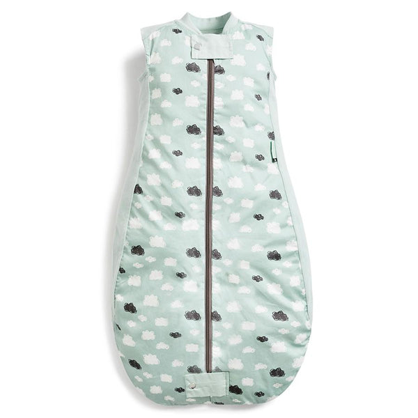 ergoPouch Sheeting Sleeping Bag - Mint Clouds (0.3 Tog) Sleeping Bags ergoPouch 2-12 months