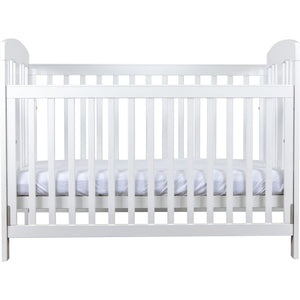 Grotime Pearl Package - with Cot, Mattress, Spartan Chest & Crest Changing Top Nursery Furniture Grotime White