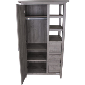 Love N Care Lyon Wardrobe - Dark Grey Nursery Furniture Love N Care