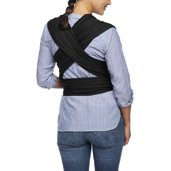 Moby Evolution Wrap Baby Carriers Moby Black