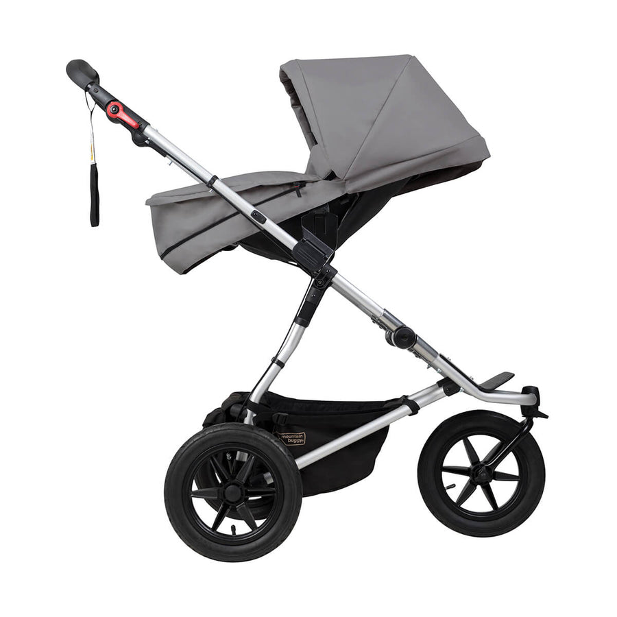 Mountain Buggy Carrycot Plus for Urban Jungle, Terrain and Plus One Pram Accessories Mountain Buggy Silver