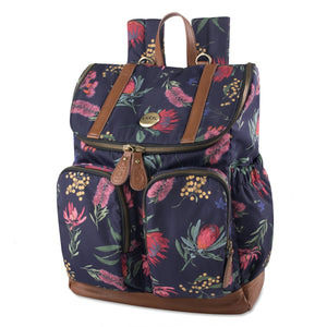 OiOi Nappy Backpack - Botanical Floral Nappy Bag OiOi