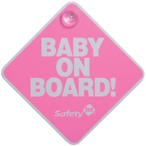 Safety 1st Baby on Board Sign Car Seat Accessories Safety 1st Pink