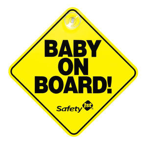 Safety 1st Baby on Board Sign Car Seat Accessories Safety 1st Yellow
