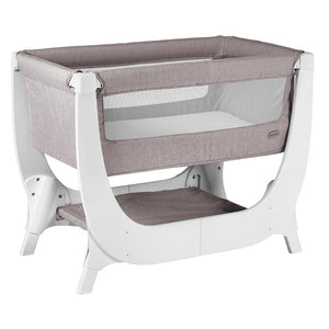 Shnuggle Air Bedside Crib Cradles & Bassinets Red Castle Stone Grey