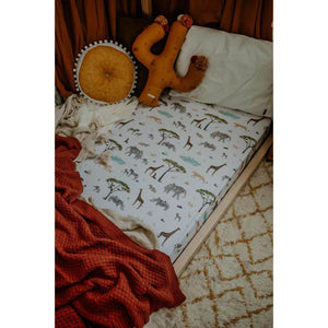 Snuggle Hunny Kids Fitted Cot Sheet - Safari Mats & Linen Snuggle Hunny Kids