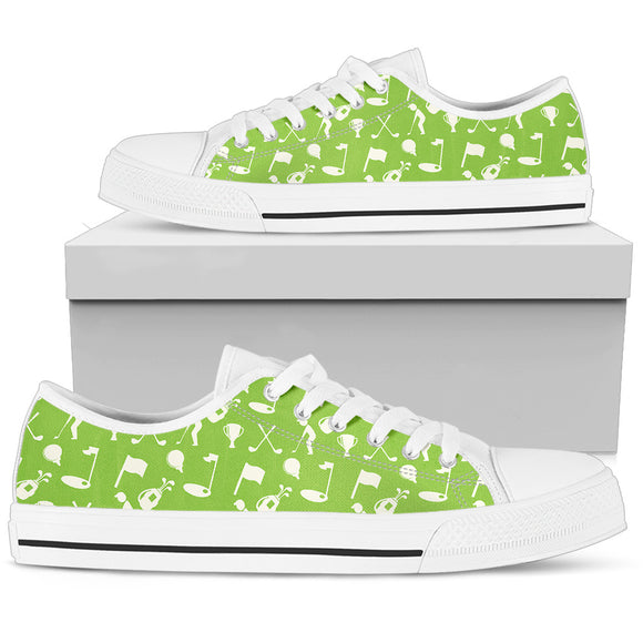 Women's Green Low Top Shoes