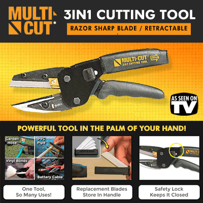 Multi function Cut 3 in 1 Power Cutting Tool With Built-In Wire As Seen on TV
