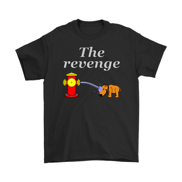 Funny Dog Fire Hydrant Gets Its Revenge Gag Gift Mens T-Shirt