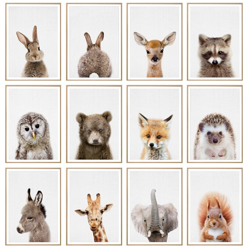 Animal Poster Wall Pictures For Children Bedroom Cute Rabbit Painting Queenesthersfinishing