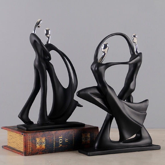 Modern abstract black Human sculpture statue