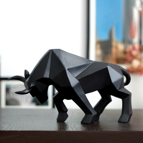 Bison Ox Sculpture Abstract Bull Statue