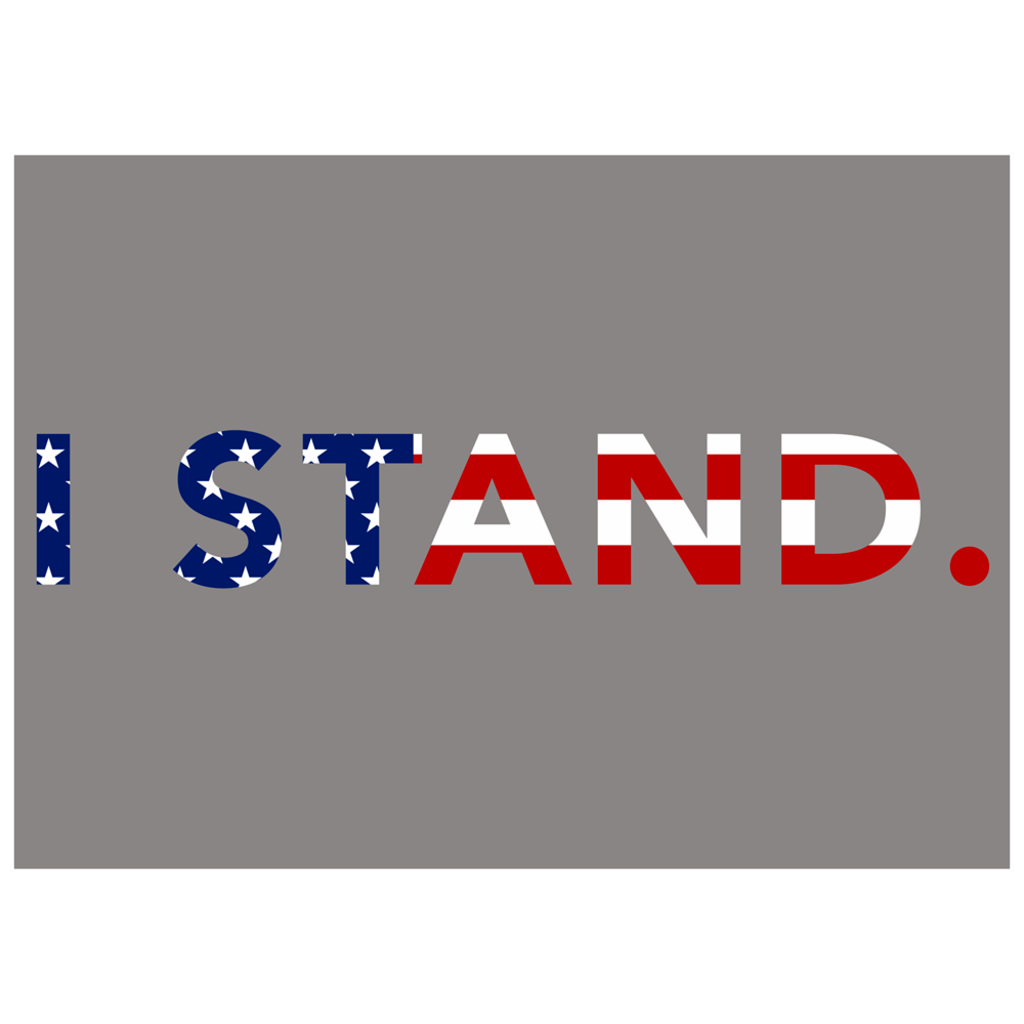I Stand Flag Bumper Sticker