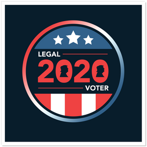 2020 Legal Voter Sticker