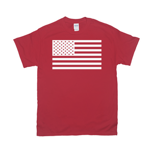 Red America Flag T Shirt
