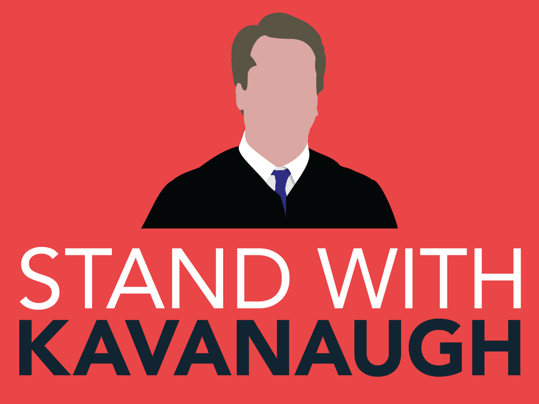 Stand With Kavanaugh Bumper Sticker - Red