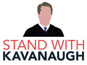 Stand With Kavanaugh Bumper Sticker - White