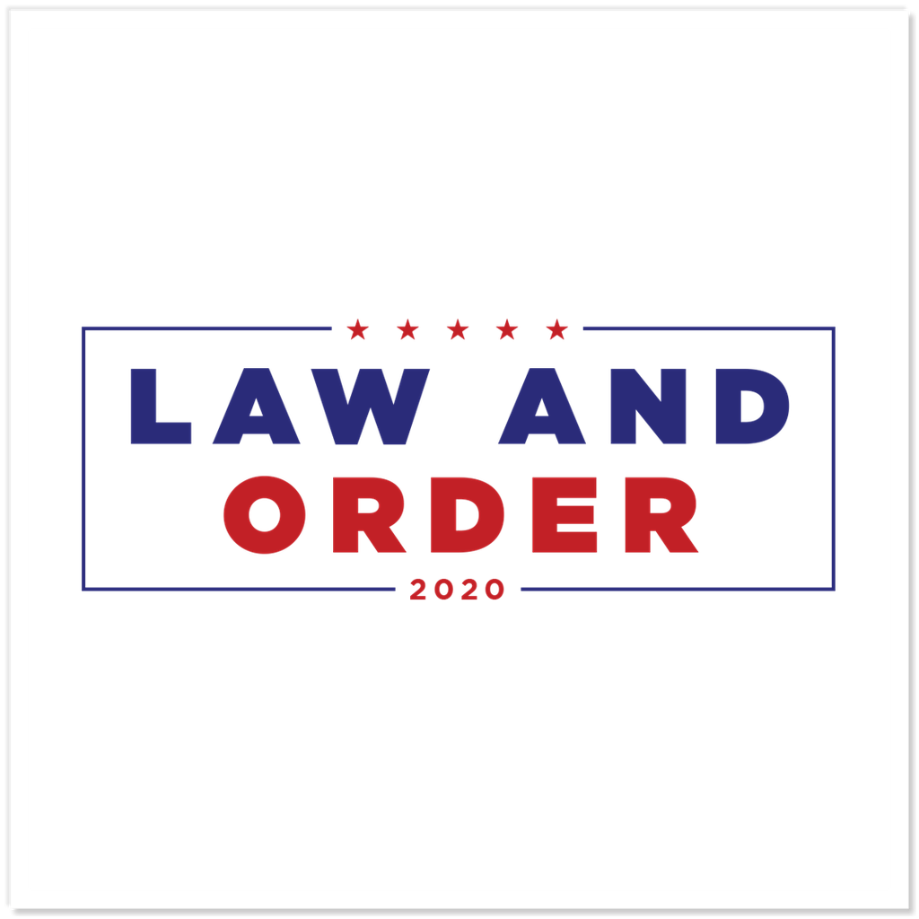 Law And Order 2020 Sticker