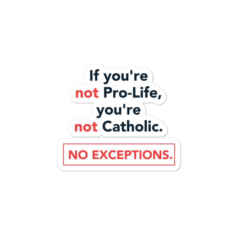 Pro-Life Catholic Sticker