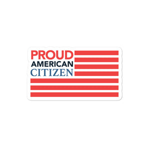 Proud American Citizen Flag Sticker