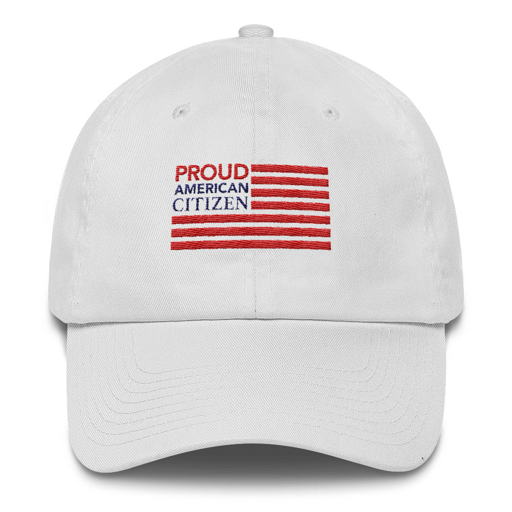 Proud American Citizen Flag Cotton Cap