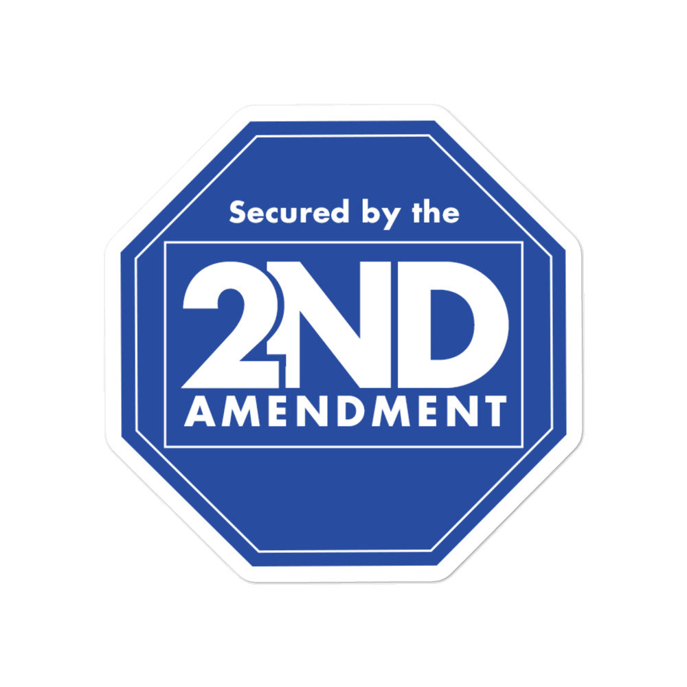 Secured By The 2nd Amendment Sticker