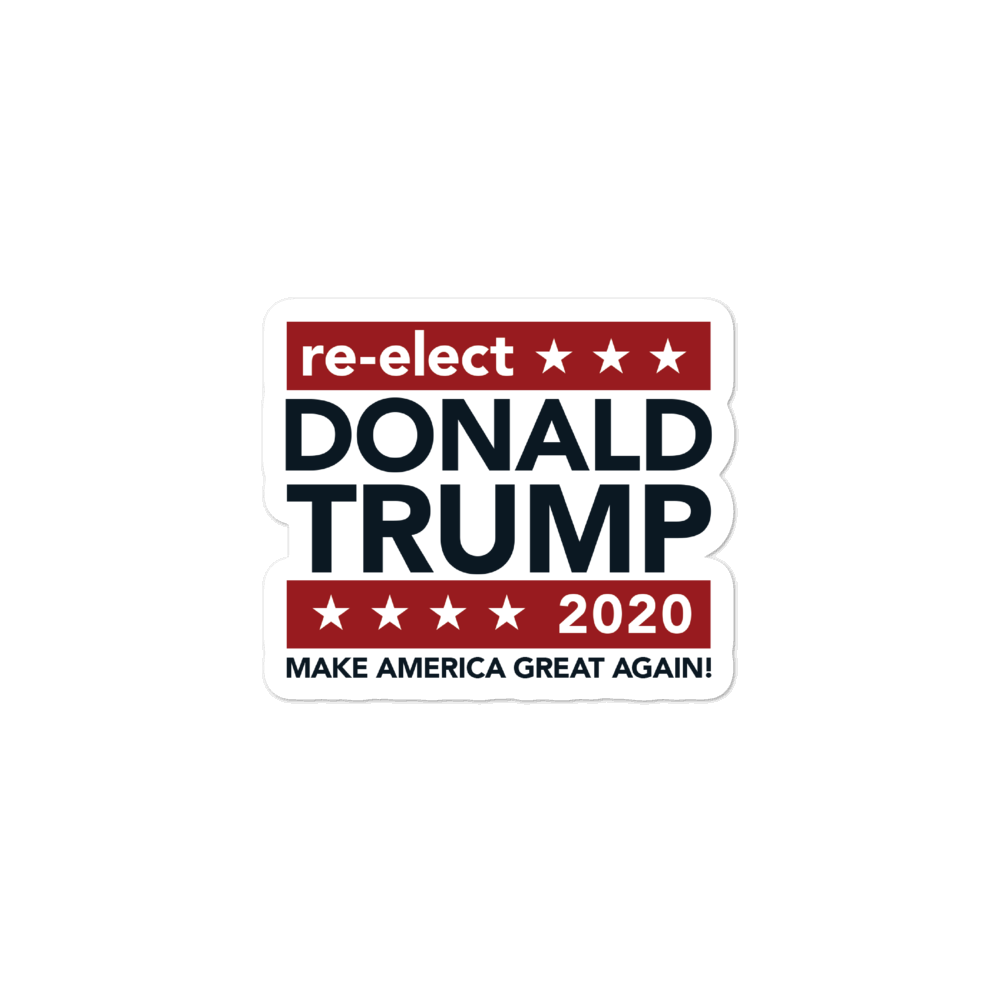 Re-elect Donald Trump 2020 Sticker