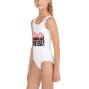 Born In The U.S.A Print Kids Swimsuit