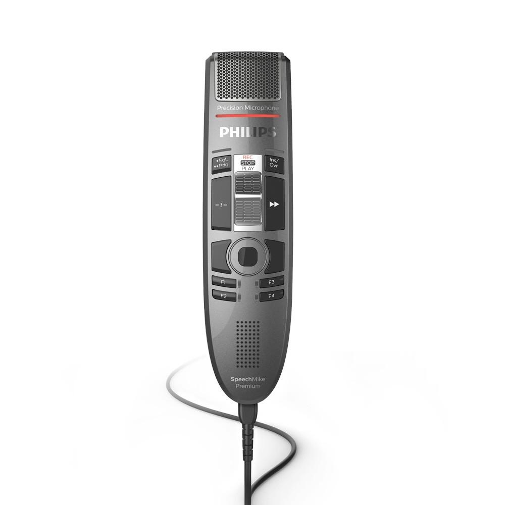 Philips SMP3710 SpeechMike Premium Touch : Slide Control Dictation Microphone