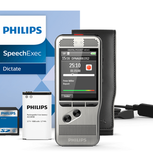 PHILIPS DPM6000 - Pocket Memo Voice Recorder - Dictation Solutions Australia