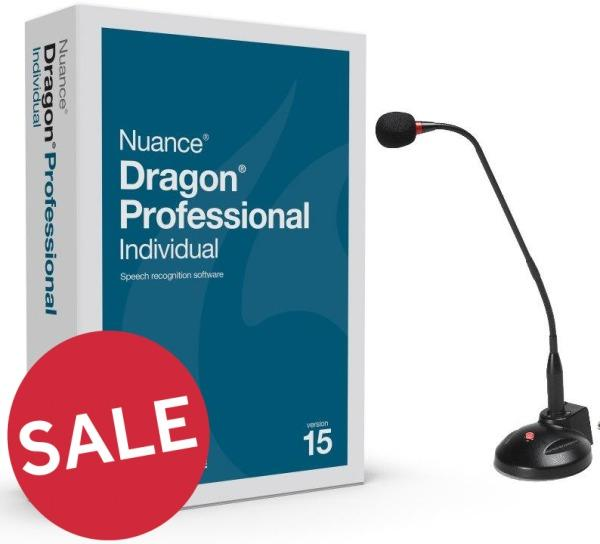 Dragon Pro 15 & Desktop Mic Training Package Eofy Sale! Naturally Speaking Software