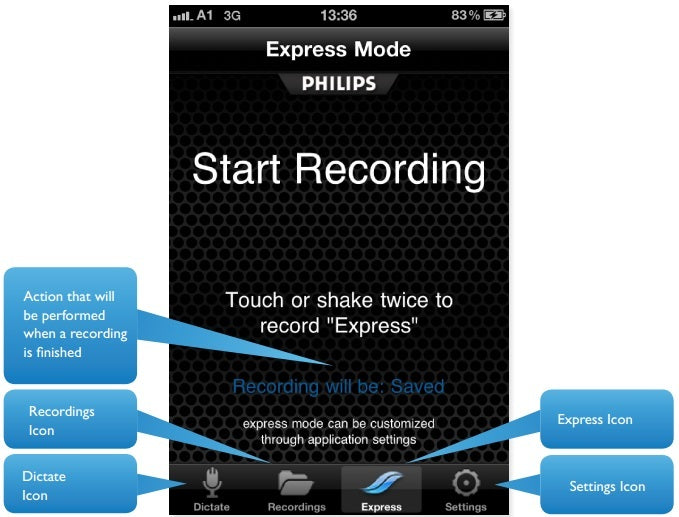 Philips Speech Air Recorder & 1 Year SpeechLive System (1 Author, 1 Typist) PSP2100