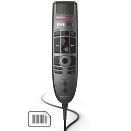 Philips SMP3800 SpeechMike Premium  push button, Barcode, touch pad